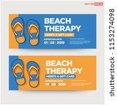 beach therapy gift voucher...   Shutterstock .eps vector #1153274098