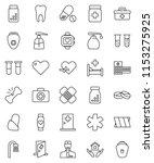 thin line vector icon set  ... | Shutterstock .eps vector #1153275925
