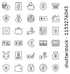 thin line vector icon set  ... | Shutterstock .eps vector #1153276045