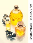 eucalyptus oil  on grey... | Shutterstock . vector #1153277725