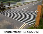 Cattle Grid On Road