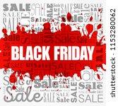 black friday sale word cloud... | Shutterstock .eps vector #1153280062