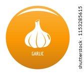 garlic icon. simple...   Shutterstock .eps vector #1153285615