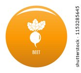 beet icon. simple illustration... | Shutterstock .eps vector #1153285645