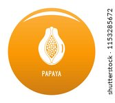papaya icon. simple... | Shutterstock .eps vector #1153285672