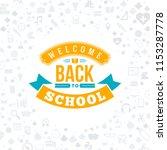 back to school. typographic... | Shutterstock .eps vector #1153287778