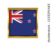 new zealand flag vector square... | Shutterstock .eps vector #1153291465