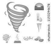 different weather monochrome... | Shutterstock .eps vector #1153294678