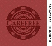 carefree retro red emblem | Shutterstock .eps vector #1153299058