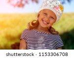 a portrait of a cute little... | Shutterstock . vector #1153306708
