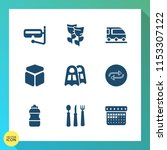 modern  simple vector icon set... | Shutterstock .eps vector #1153307122