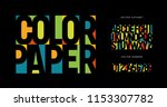 colorful letters and numbers... | Shutterstock .eps vector #1153307782