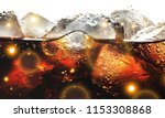 cola with ice cubes in glass | Shutterstock . vector #1153308868