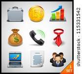 business icons   set 1 | Shutterstock .eps vector #115331542