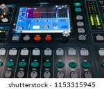 mixer in control room | Shutterstock . vector #1153315945