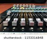 mixer in control room | Shutterstock . vector #1153316848