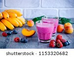 homemade smoothies of fresh... | Shutterstock . vector #1153320682