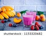 homemade smoothies of fresh... | Shutterstock . vector #1153320682