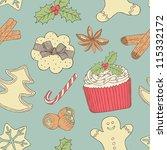Christmas Food Seamless Pattern