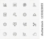 data analitic line icon set... | Shutterstock .eps vector #1153323055