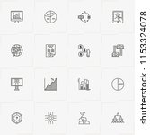 data analitic line icon set... | Shutterstock .eps vector #1153324078