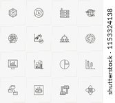 data analitic line icon set... | Shutterstock .eps vector #1153324138