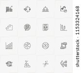 data analitic line icon set... | Shutterstock .eps vector #1153324168