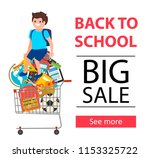 back to school sale sign with... | Shutterstock .eps vector #1153325722