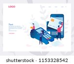 concept online and mobile... | Shutterstock .eps vector #1153328542
