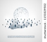networks   business connections ... | Shutterstock .eps vector #1153329502
