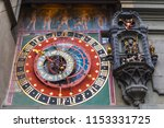 ancient astronomic clock of...   Shutterstock . vector #1153331725