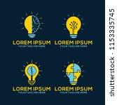 light bulb idea icons set.... | Shutterstock .eps vector #1153335745