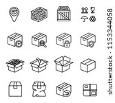 box icon set. with white... | Shutterstock .eps vector #1153344058