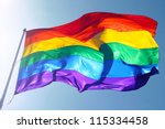 rainbow flag  sun  wind  and... | Shutterstock . vector #115334458