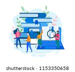 library of encyclopedia  e... | Shutterstock .eps vector #1153350658