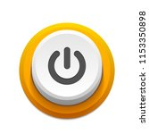yellow power push button with... | Shutterstock .eps vector #1153350898