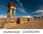 ruins of an ancient temple at... | Shutterstock . vector #1153352455