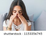 sinus ache causing very... | Shutterstock . vector #1153356745