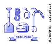 rock climbing icon set.... | Shutterstock .eps vector #1153358185