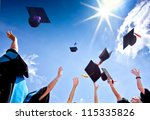 students with congratulations... | Shutterstock . vector #115335826