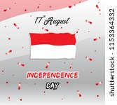 happy independence day... | Shutterstock .eps vector #1153364332