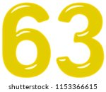 numeral 63  sixty three ... | Shutterstock . vector #1153366615