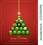 merry christmas  and wishing... | Shutterstock .eps vector #115336996