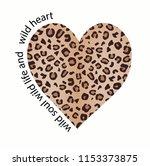 fashion leopard slogan graphic... | Shutterstock .eps vector #1153373875