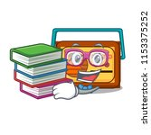 student with book radio mascot... | Shutterstock .eps vector #1153375252