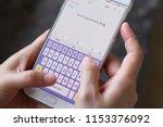 close up shot of human hands...   Shutterstock . vector #1153376092
