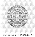 free membership grey badge with ... | Shutterstock .eps vector #1153384618