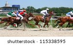 horse race for the prize... | Shutterstock . vector #115338595