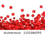 many of the falling blocks with ... | Shutterstock . vector #1153386595