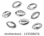 rugby and american football... | Shutterstock .eps vector #115338676
